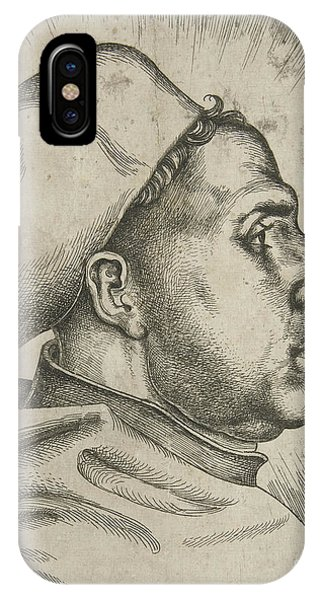 Lutheran iPhone Case - Martin Luther, 1523  by Daniel Hopfer