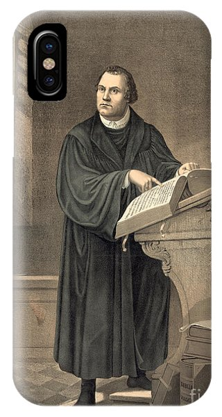 Lutheran iPhone Case - Martin Luther In His Study by American School