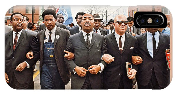 Martin Luther King Selma Drawing IPhone Case