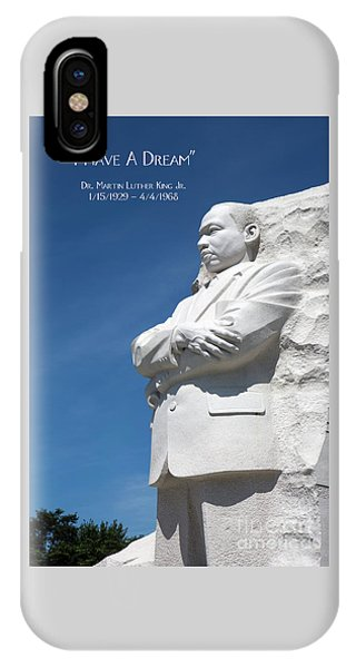 IPhone Case featuring the photograph Martin Luther King Jr. Monument by Steven Frame