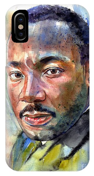 Nobel iPhone Case - Martin Luther King Jr. Painting by Suzann Sines