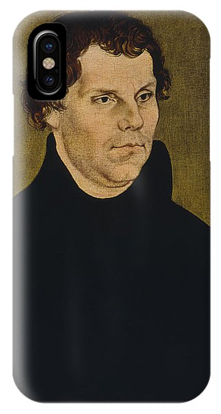 Lutheran iPhone Case - Martin Luther Painting  by War Is Hell Store