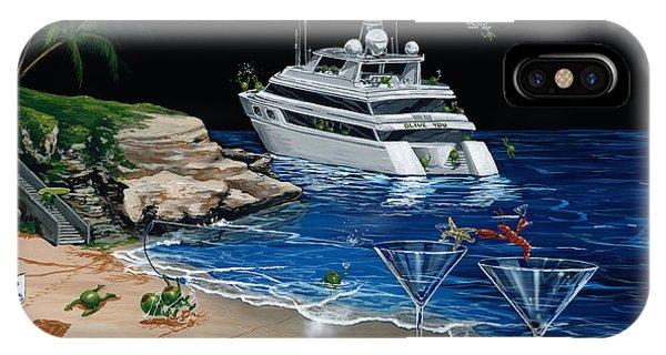 Martini iPhone Case - Martini Cove La Jolla by Michael Godard
