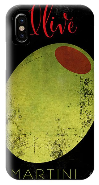 Martini iPhone Case - Martini Olive by Mindy Sommers