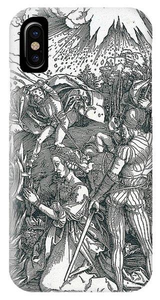 Albrecht Durer iPhone Case - Martyrdom Of Saint Catherine by Albrecht Durer