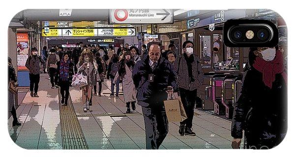Marunouchi Line, Tokyo Metro Japan Poster IPhone Case