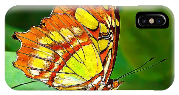 Marvelous Malachite Butterfly IPhone Case