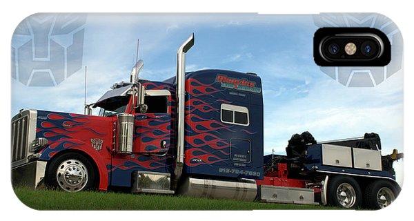 Transformers Optimus Prime Tow Truck IPhone Case