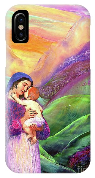 Mary Mother Of God iPhone Case - Mary And Baby Jesus Gift Of Love by Jane Small