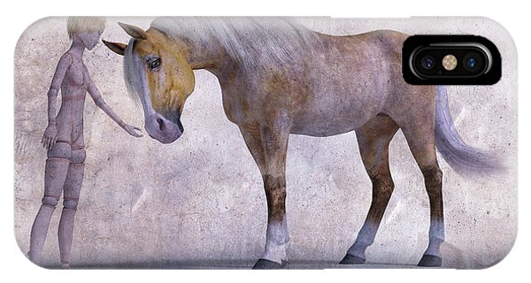 Good Humor iPhone Case - Mary Jane And The Horse 101f Betsy Knapp by Betsy Knapp