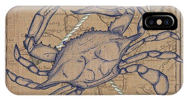 Verse iPhone Case - Maryland Blue Crab by Debbie DeWitt