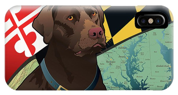 Maryland Chocolate Lab IPhone Case