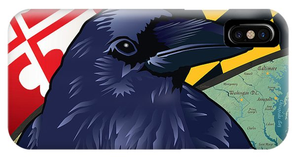Maryland Citizen Raven IPhone Case