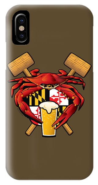 Maryland Crab Feast Crest IPhone Case