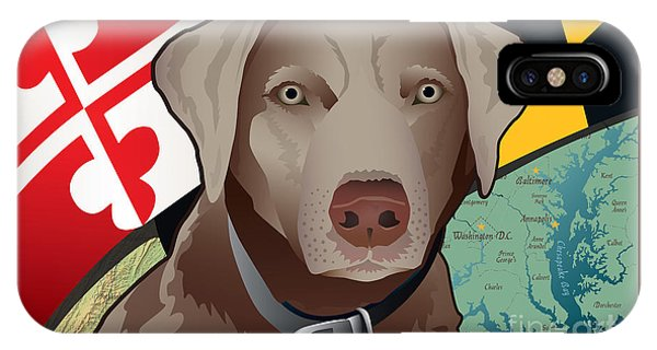 Maryland Silver Lab IPhone Case