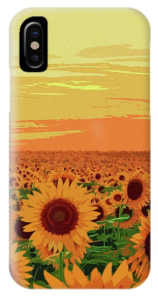 Maryland Sunflowers IPhone Case