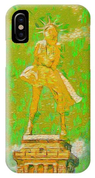 Chain iPhone Case - Marylin Liberty 3 - Da by Leonardo Digenio