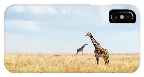 Safari iPhone Case - Masai Giraffe In Kenya Plains by Susan Schmitz