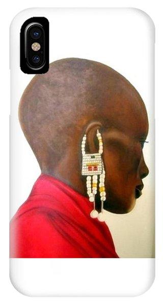 Masai Woman - Original Artwork IPhone Case