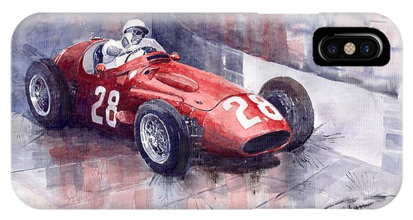 Maserati 250 F Gp Monaco 1956 Stirling Moss IPhone Case