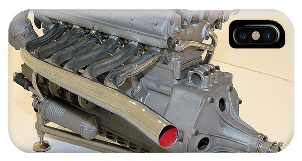 Maserati 250f Engine Rear Enzo Ferrari Museum IPhone Case