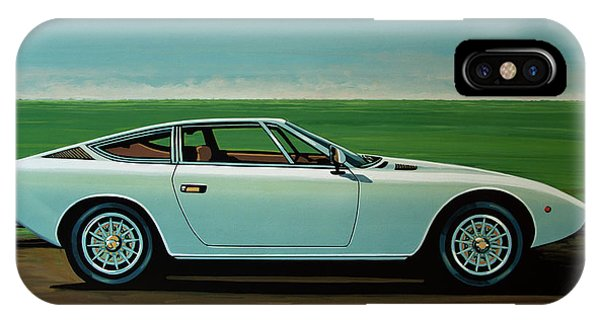 Oldtimer iPhone Case - Maserati Khamsin 1974 Painting by Paul Meijering
