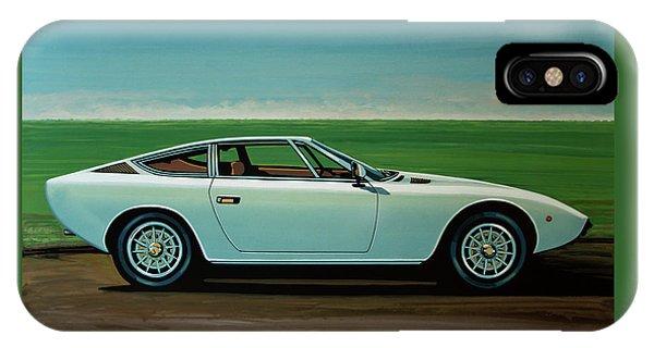 Maserati Khamsin 1974 Painting IPhone Case