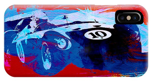 Car iPhone X Case - Maserati On The Race Track 1 by Naxart Studio