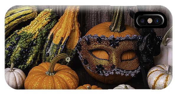 Mottled iPhone Case - Masked Pumpkin by Garry Gay