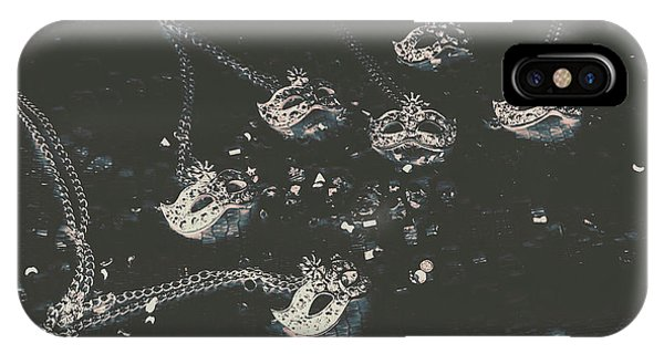 Necklace iPhone Case - Masks From The Dark Carnival by Jorgo Photography - Wall Art Gallery