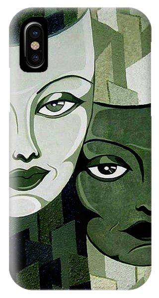 Masks Verde IPhone Case
