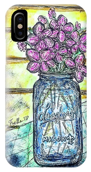 Mason Jar Bouquet IPhone Case