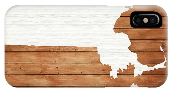 Traveler iPhone Case - Massachusetts Rustic Map On Wood by Dan Sproul
