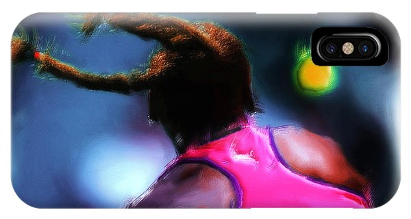 Venus Williams iPhone Case - Match Point by Brian Reaves
