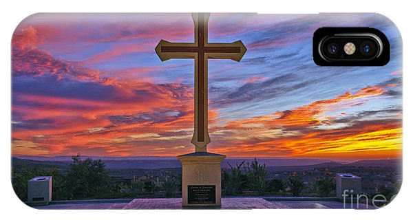 Christian Cross And Amazing Sunset IPhone Case