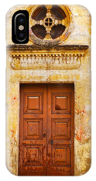 Matera Church Door IPhone Case