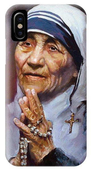 People iPhone Case - Mother Teresa by Ylli Haruni