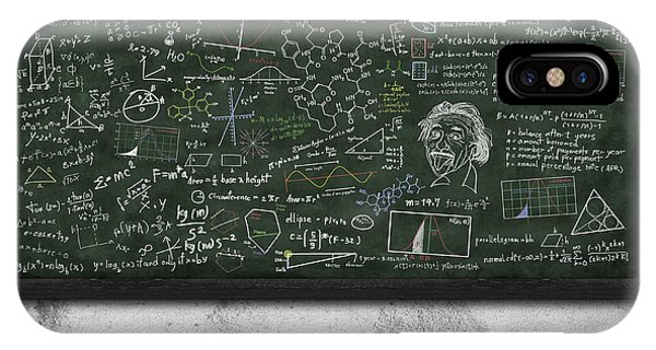 Classroom iPhone Case - Maths Formula On Chalkboard by Setsiri Silapasuwanchai