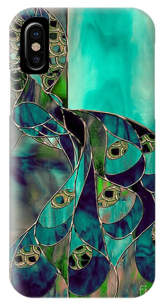 Peacock iPhone Case - Mating Season Stained Glass Peacock by Mindy Sommers