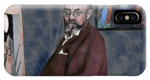 French Painter iPhone Case - Matisse At Work by Scott Bowlinger