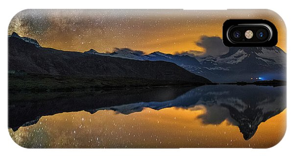 Matterhorn Milky Way Reflection IPhone Case