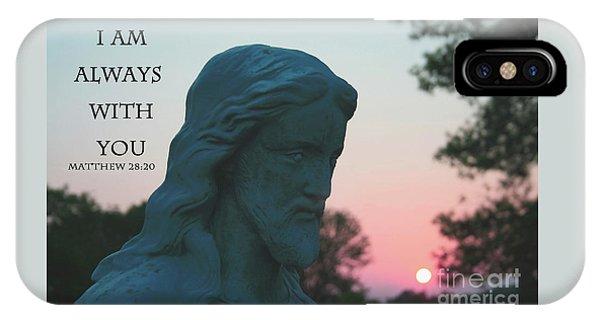 Matthew 28/20 - Jesus Statue IPhone Case
