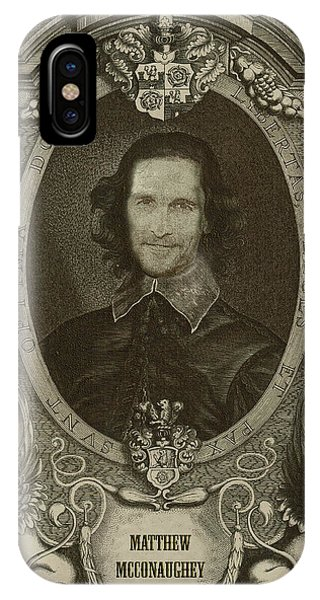 Portraits iPhone Case - Matthew Mcconaughey   by Serge Averbukh