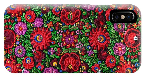 Matyo Hungarian Magyar Folk Embroidery Detail IPhone Case