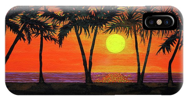 Maui Sunset Palm Trees IPhone Case