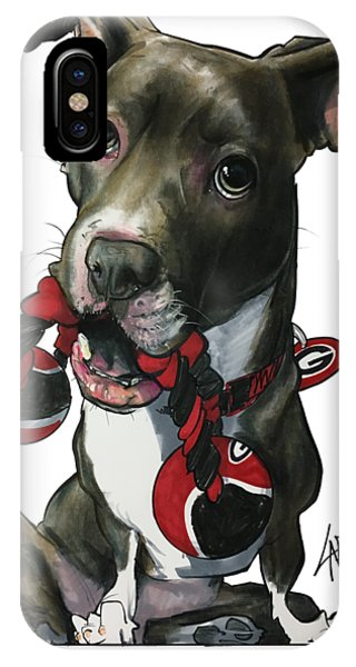 Caricature iPhone Case - Mauras 3412 by John LaFree