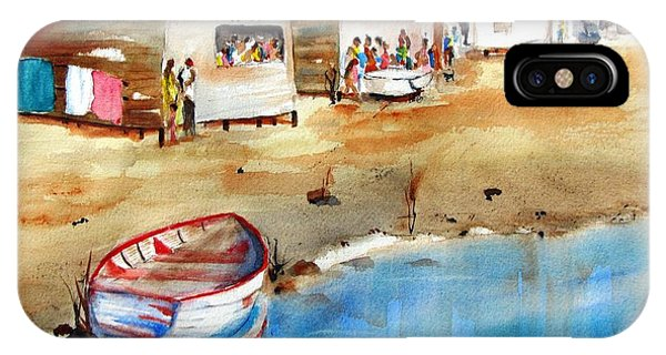 Mauricio's Village - Beach Huts IPhone Case