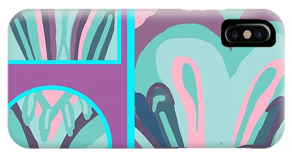 The Art Of Gandy iPhone Case - Mauve In Jazz 2 by Joan Ellen Gandy of The Art Of Gandy