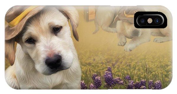 Maverick And Tori - Labrador Art IPhone Case