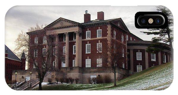 Maxwell Hall In Winter Phone Case by Debra Millet